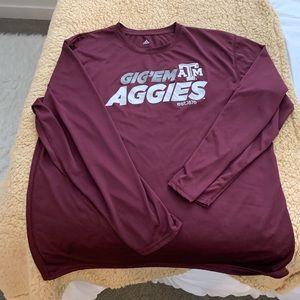 Adidas Texas A&M long sleeve athletic shirt